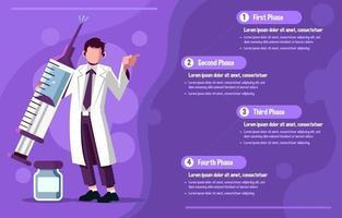 Minimalist Purple Covid Vaccine Infographic vector