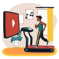 Online Virtual Gym at Home vector