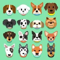 Set of cartoon dogs vector