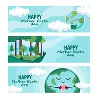 Happy Mother Earth Day Banner vector