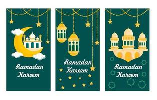 banner de ramadán verde vector