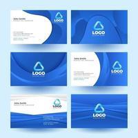 tarjeta de visita limpia azul para su establecimiento vector
