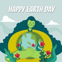 Happy Mother Earth Equals Happy Life vector
