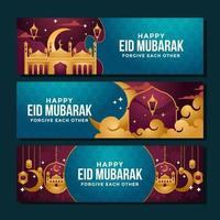 Enamoring Purple and Gold Mosque Aesthetic vector