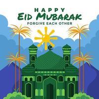 Celebrating Eid Mubarak With Forgiving Others vector