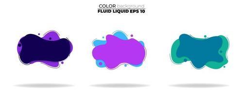 conjunto de vectores de forma fluida. líquido degradado con colores neón, elemento para el diseño de un logotipo, folleto, persecución, tarjeta de regalo, póster en la pared, página de inicio, facebook, banner, publicación en las redes sociales