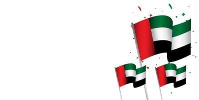 United Arab Emirates National Day Celebration Vector Template Design Illustration