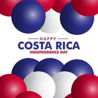 Happy Costa Rica Independence Day Vector Template Design Illustration