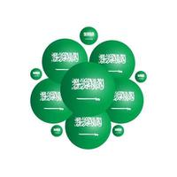Happy Saudi Arabia Independence Day Vector Template Design Illustration