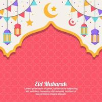 Eid Mubarak Concept Background vector