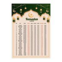 Flat Calendar Ramadan Concept vector