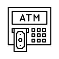 icono de cajero automático vector