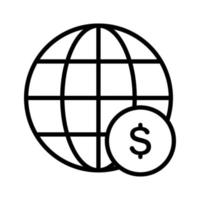 Global Currency Icon vector
