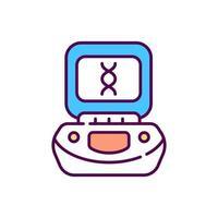 Centrifuge RGB color icon vector