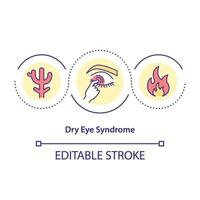 Dry test syndrome concept icon vector
