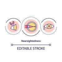 Nearsightedness concept icon vector