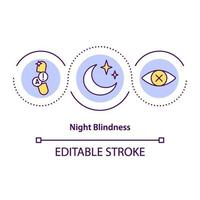 icono del concepto de ceguera nocturna vector