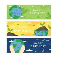 Earth Day Banner Set vector