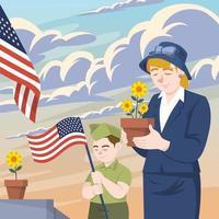 Memorial Day of USA Design vector
