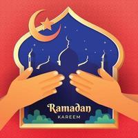 Ramadan Kareem Celebration Forgive Each Other vector
