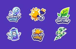 Eco Green Tech Sticker vector