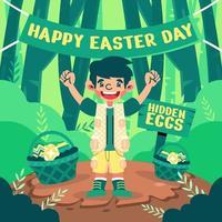 Hidden Eggs of Easter Day vector
