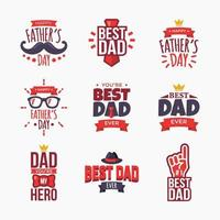 Set of Happy Fathers Day Badge vector