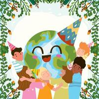 Celebrate Earth Day Background Concept vector