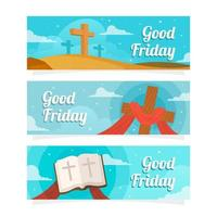 Good Friday Festivity Banner Collection vector