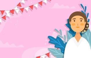 Ibu Kartini Day Festivity Background vector