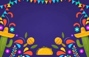 Flat Cinco De Mayo Festivity Background vector