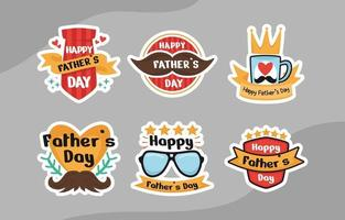 Happy Father's Day Sticker vector