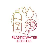 Plastic water bottles concept icon vector