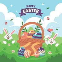 Happy Easter Greeting Card Concept vector