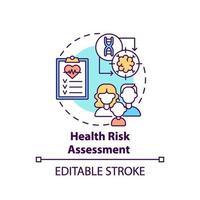 icono del concepto de evaluación de riesgos para la salud vector