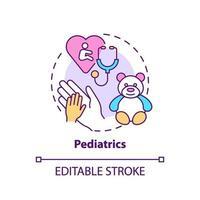 icono del concepto de pediatría vector