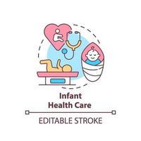 Infant health care concept icon vector