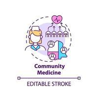 icono de concepto de medicina comunitaria vector