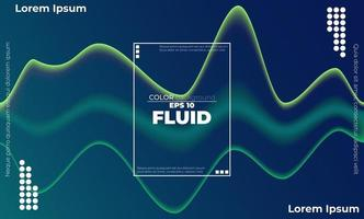 Trendy geometric background. 3d Fluid wave liquid shape. Suitable For Wallpaper, Banner, Background, Card, Book Illustration, landing page, gift, cover, flyer, report, bussiness, social media vector