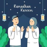 Ramadhan Kareem Greetings vector