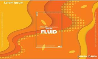 Orange elements with fluid gradient, Dynamic style banner design from fruit concept. suitable for poster, web ,landing  page, cover  add, greeting  card  promotion, social media vector