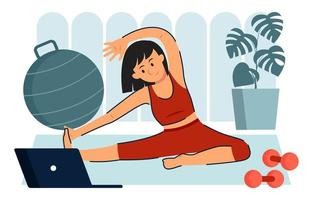 Gym At Home Activity vector