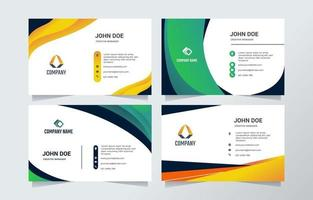 Modern Business Name Card Template vector