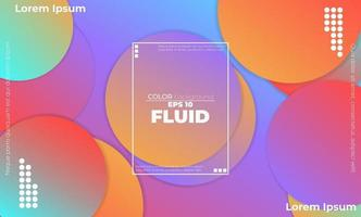 Fluid colors shapes. Applicable for gift card cover poster. Poster design. Poster on wall poster template,landing page. Fluid colorful shapes composition vector