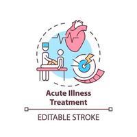 icono del concepto de tratamiento de enfermedades agudas vector
