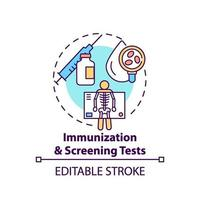 Immunization and screening tests concept icon vector