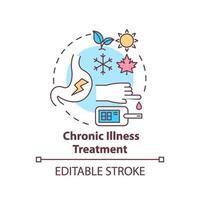 icono del concepto de tratamiento de enfermedades crónicas vector