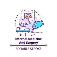 Internal medicine and surgery concept icon vector