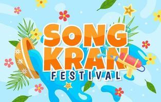 Happy Songkran Festival Background vector