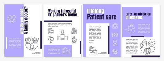 Why do you need a family doctor brochure template vector